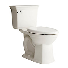 Optum Vormax 2-Piece Single-Flush Elongated Bowl Toilet in White
