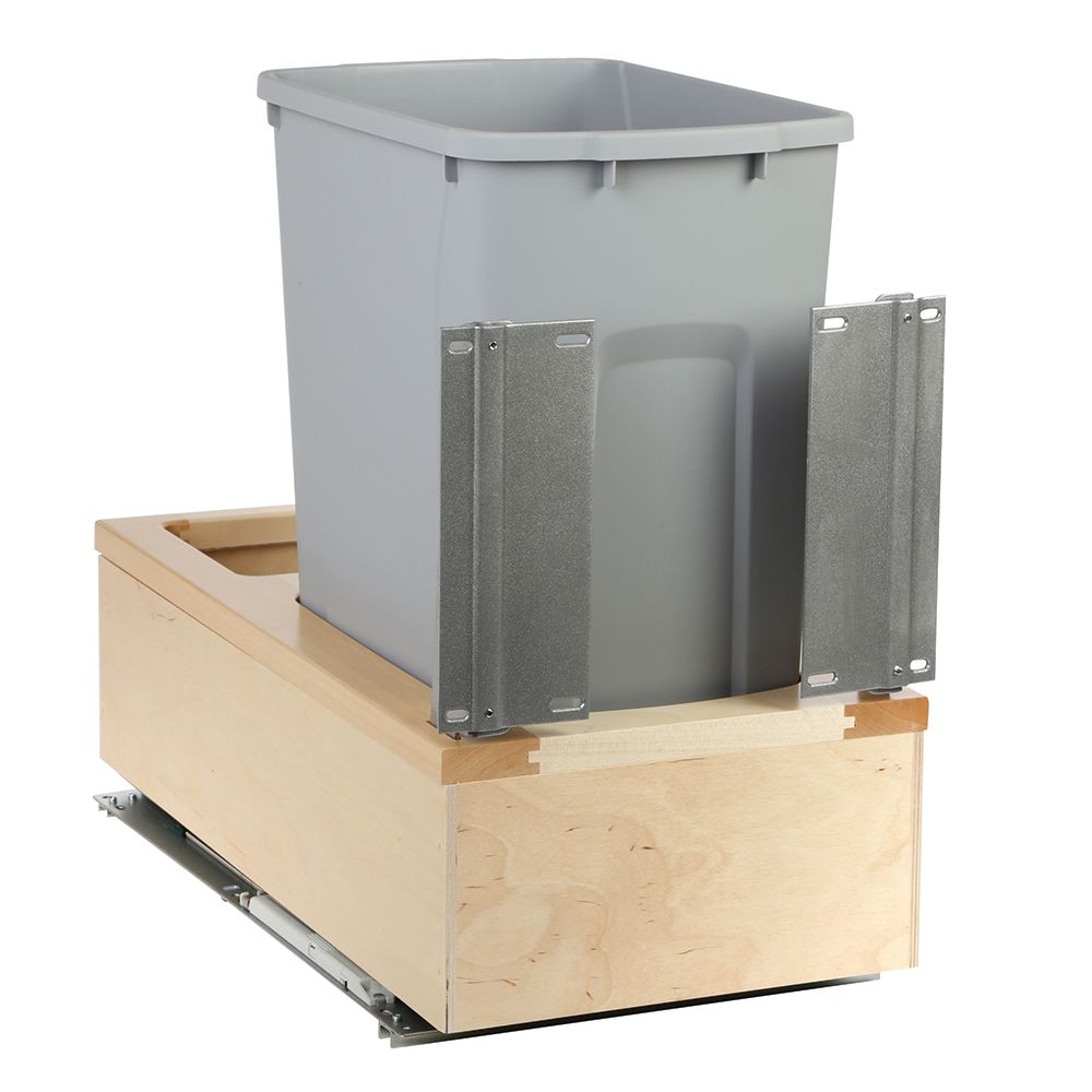 11-1/4 In. x 22-3/8 In. x 19-1/4 In. Undermount 35 QT. Soft-Close Single Trash Can