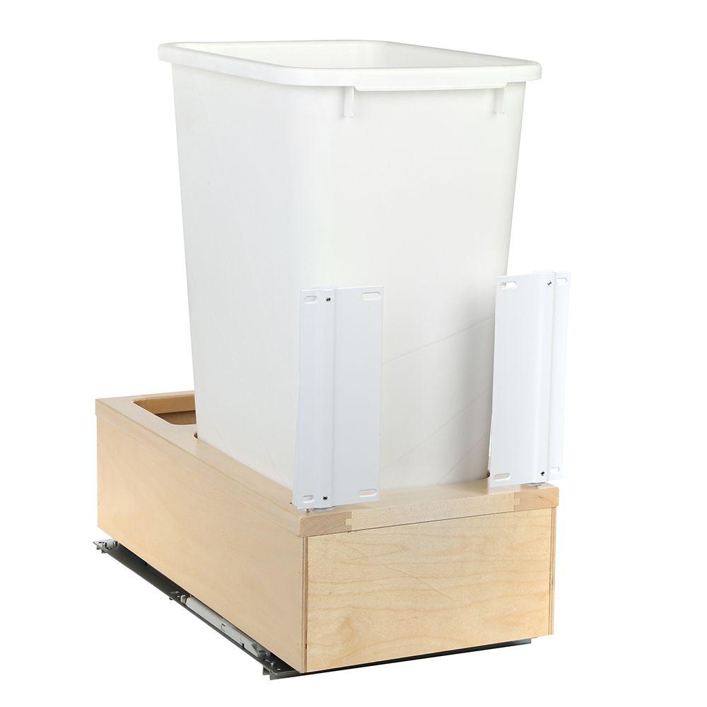 11-1/4 In. x 22-3/8 In. x 23-5/16 In. Undermount 50 QT. Soft-Close Single Trash Can