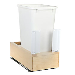 Knape & Vogt 11-1/4 In. x 22-3/8 In. x 23-5/16 In. Undermount 50 QT. Soft-Close Single Trash Can