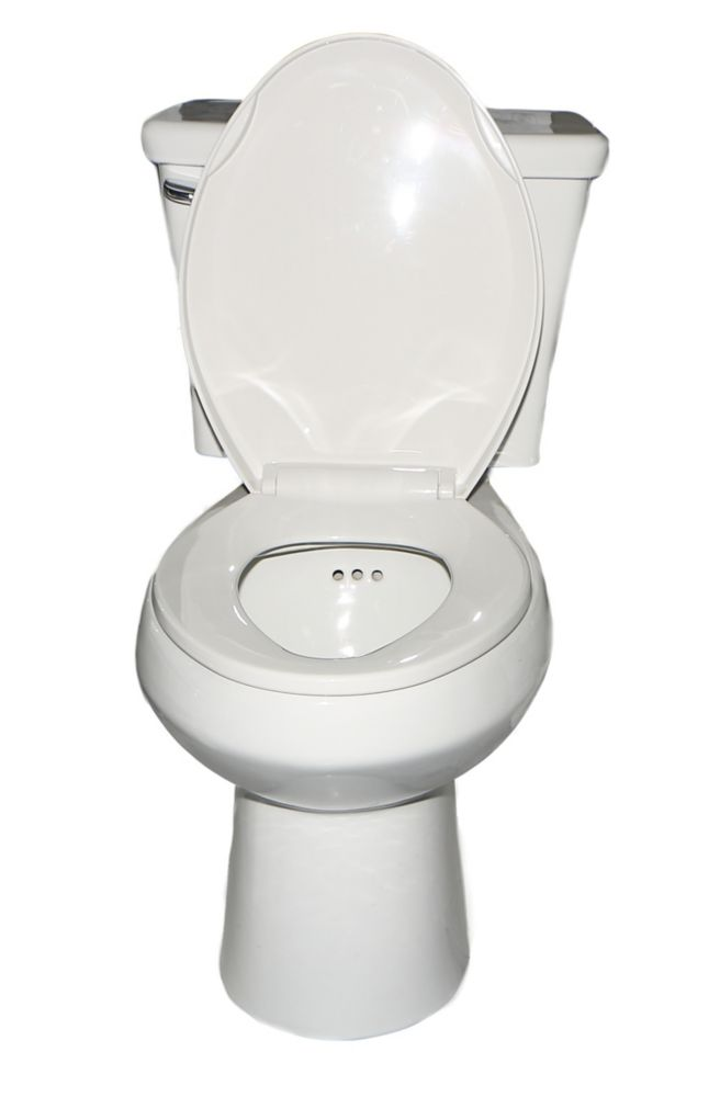 The Penguin Toilet with Overflow Protection - Single Flush Elongated 2 Piece Toilet