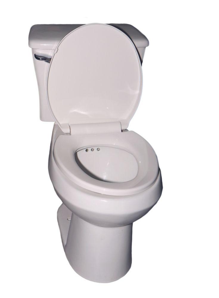 Toilette tout-en-un Penguin in a box, système de drainage secondaire intégré, 1,28gal. par chass...