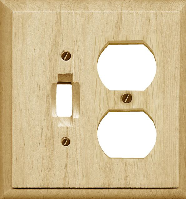 Traditional Unfinished Wood Toggle/Duplex