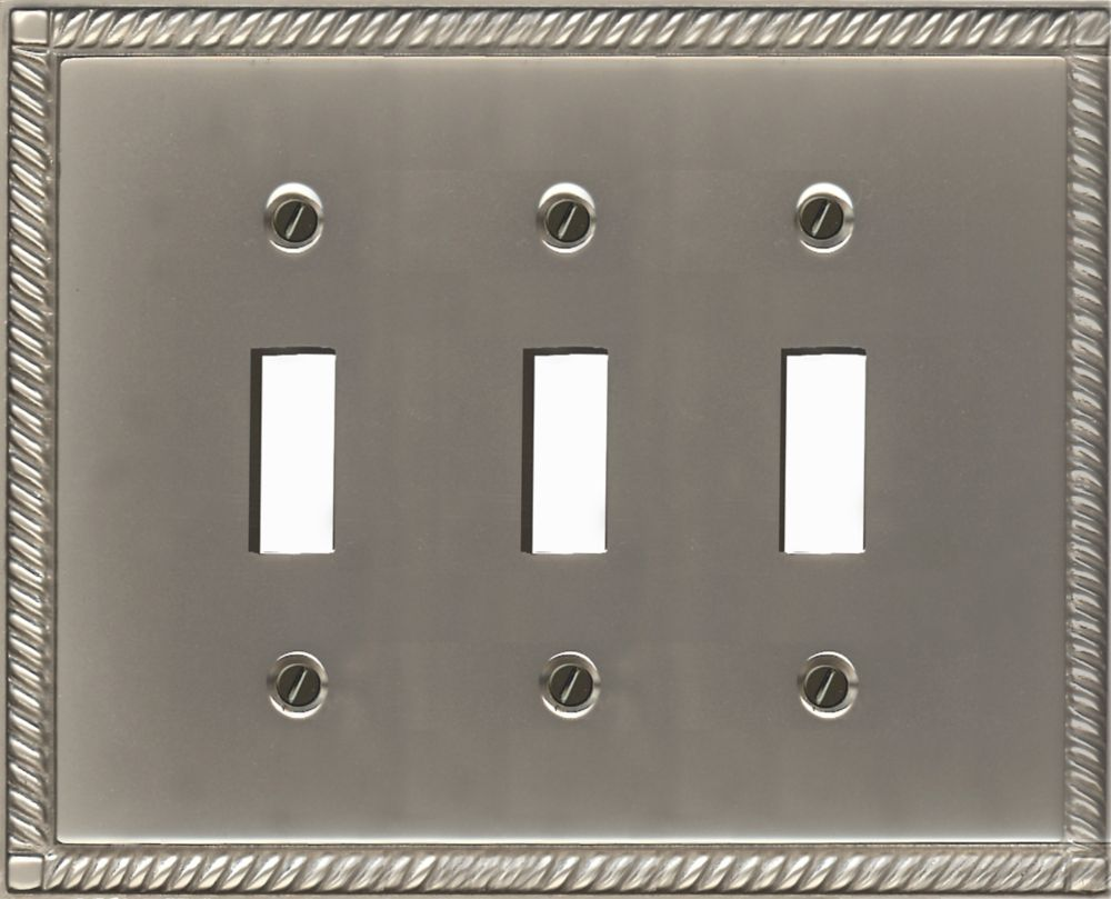 Solid Brass Pewter Finish Triple Toggle