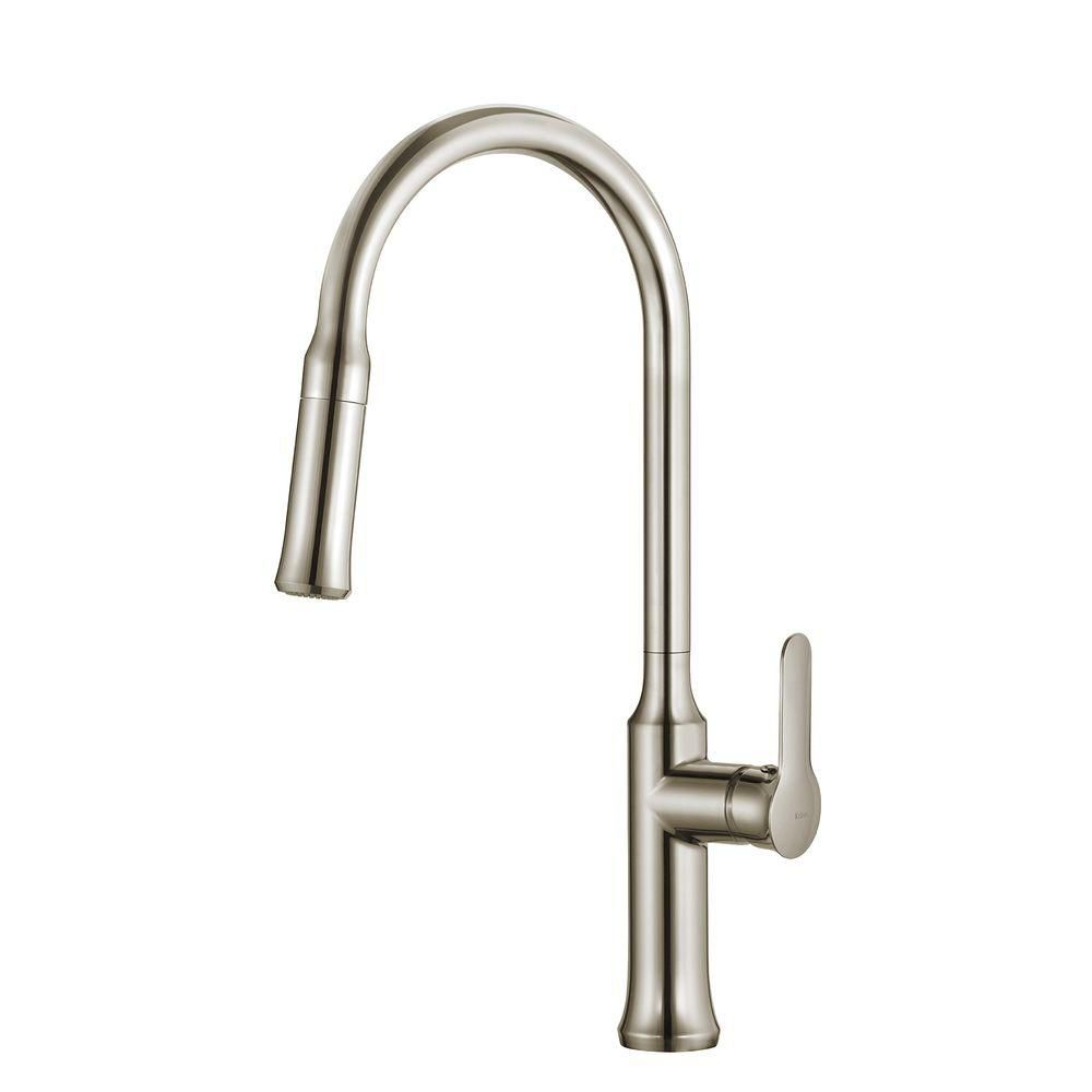 Nola Single Lever Pull-down Kitchen Faucet Stainless Steel Finish KPF-1630SS Canada Discount