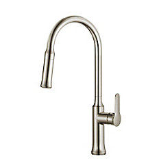 Nola Single Lever Pull Down Kitchen Faucet Stainless Steel Finish