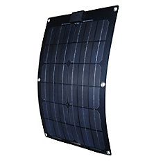 25-Watt Semi-Flex Monocrystalline Solar Panel for 12-Volt Charging