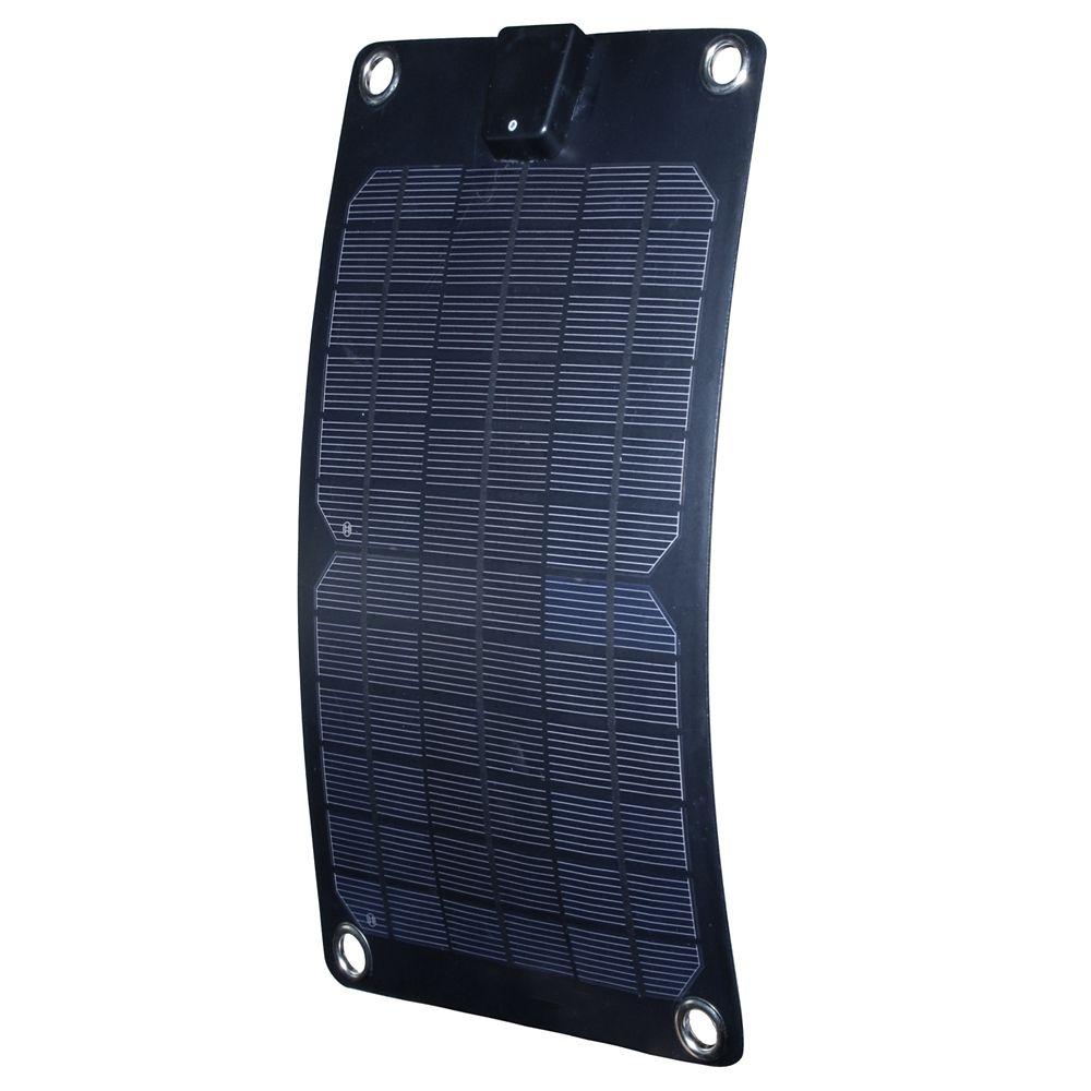 Panneau solaire semi-flexible de 5 W pour recharge de 12 V