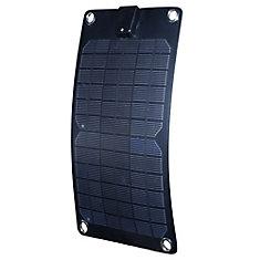 5-Watt Semi-Flex Monocrystalline Solar Panel for 12-Volt Charging