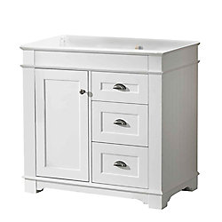 Magick Woods Charlotte 36-inch W 2-Drawer 1-Door Freestanding Vanity in White