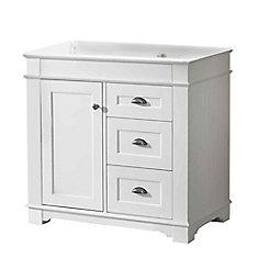 Charlotte 36-inch W 2-Drawer 1-Door Freestanding Vanity in White