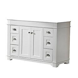 Magick Woods Charlotte 48-inch W 6-Drawer 2-Door Freestanding Vanity in White