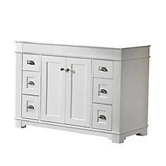 Charlotte 48-inch W 6-Drawer 2-Door Freestanding Vanity in White