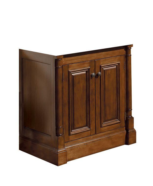 Wentworth 31.13-inch W 2-Door Freestanding Vanity in Walnut (Without Top)