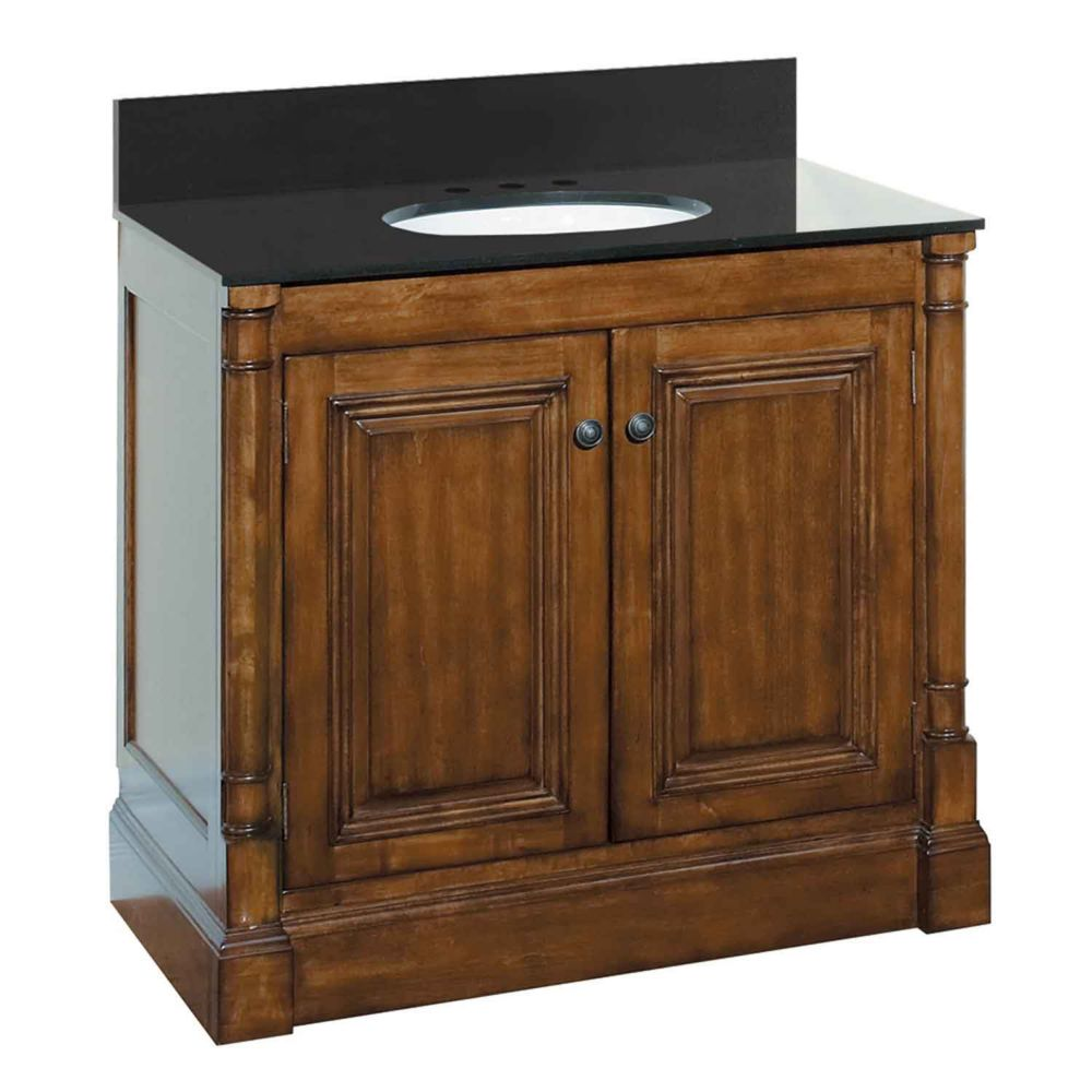 Wenworth 37 1/8-inch W Vanity Base in Walnut Finish