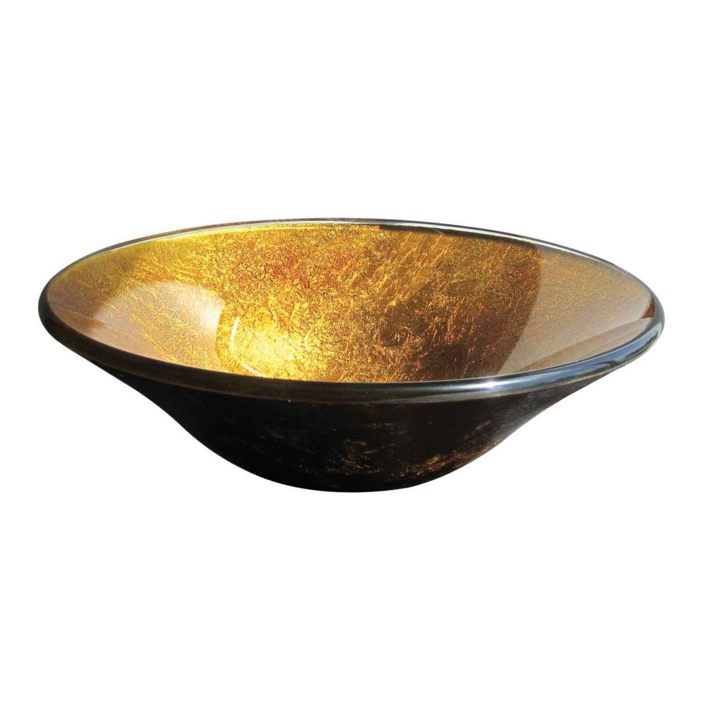 Magick Woods Glass Vessel Sink in Gold Foil The Home Depot Canada