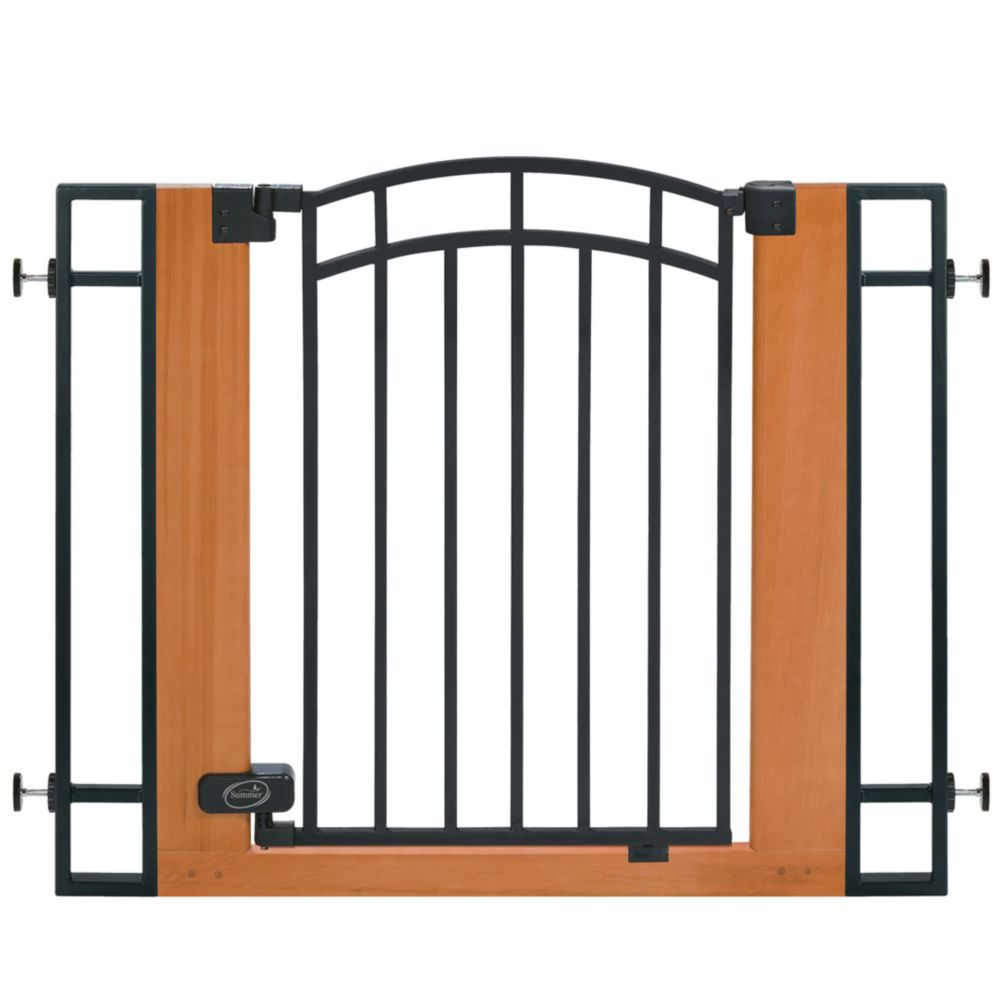 Barrière en bois et en métal