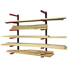 6 Shelf Wood Rack Organizer