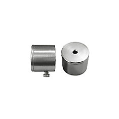 3/4-inch and 1-inch Curtain Rod End Caps in Silver