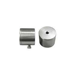 Home Decorators Collection 3/4-inch and 1-inch Curtain Rod End Caps in Silver