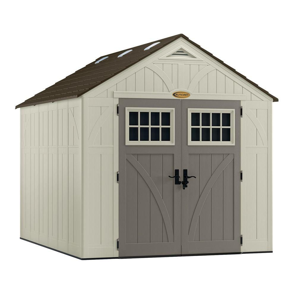 Suncast 8 feet x 10 feet tremont shed the home depot canada for 10x10 garage door lowes