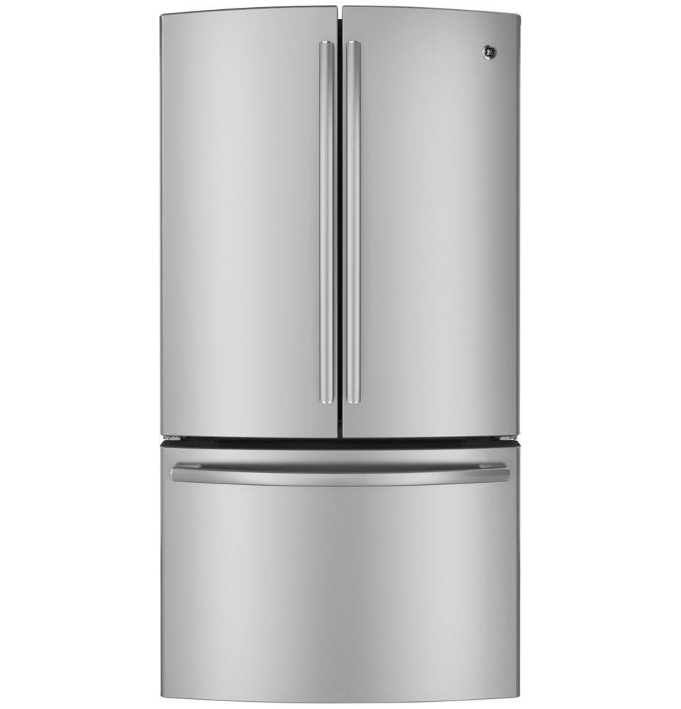 23.1 cu. ft. Counter-Depth French Door Refrigerator with Internal Ice and Water in Stainless Stee...
