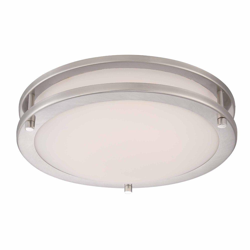 12in LED Flushmount, Brushed Nickel