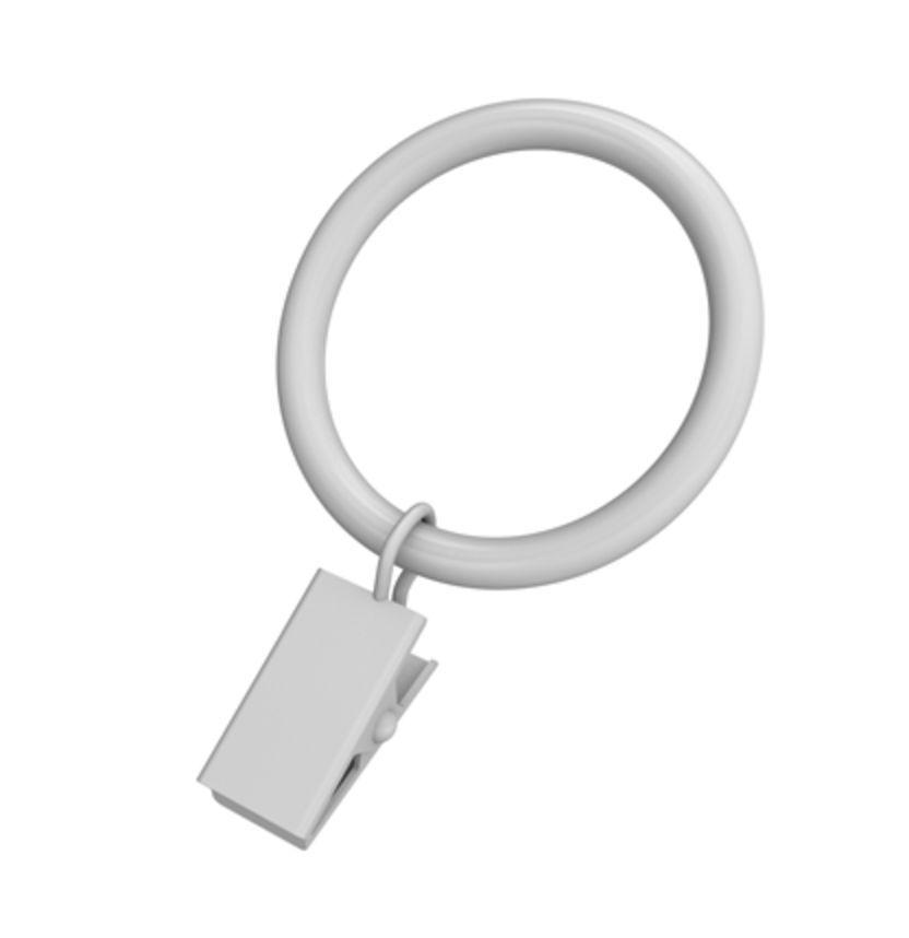 1 - 1/4 po anneaux à pince décorative fini blanc