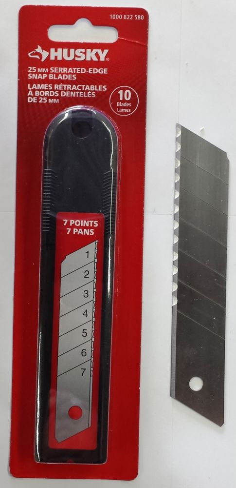 25mm serrated snap blades - 10 pack