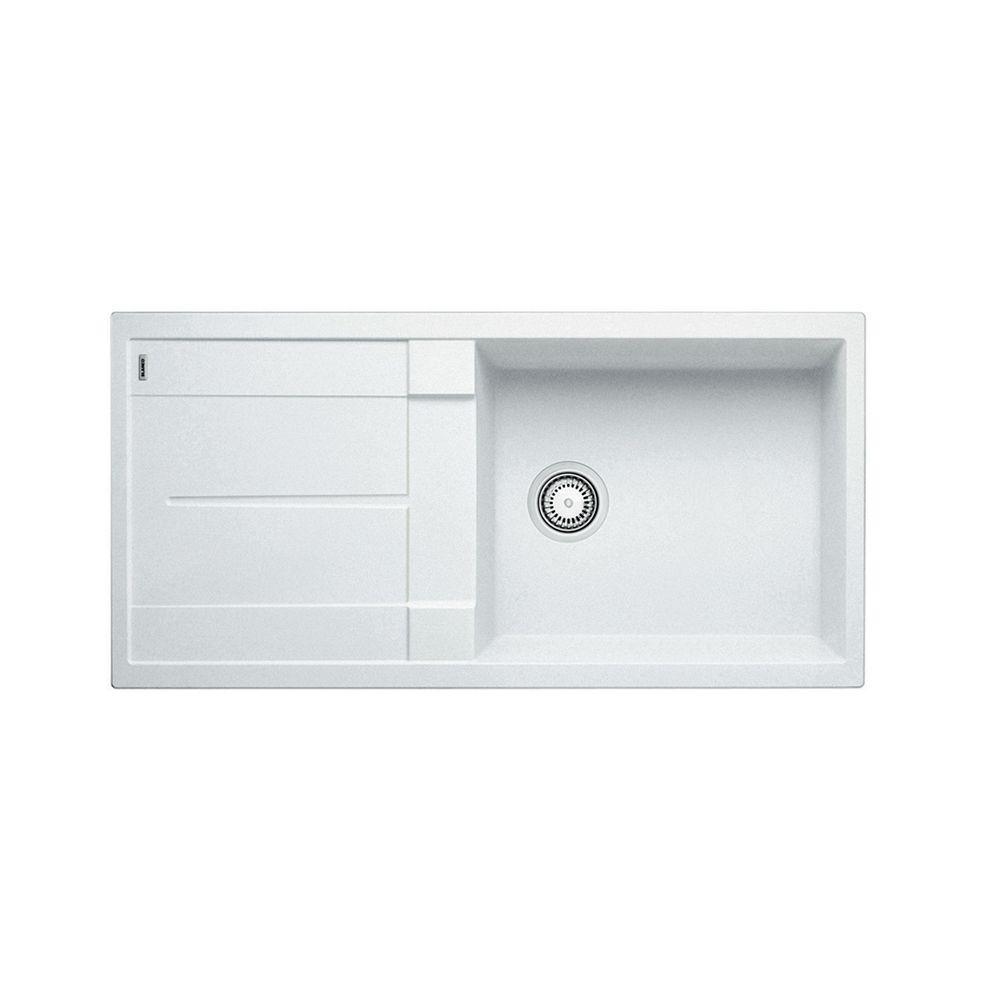 Blanco Metra X Drainboard Silgranit Sink White