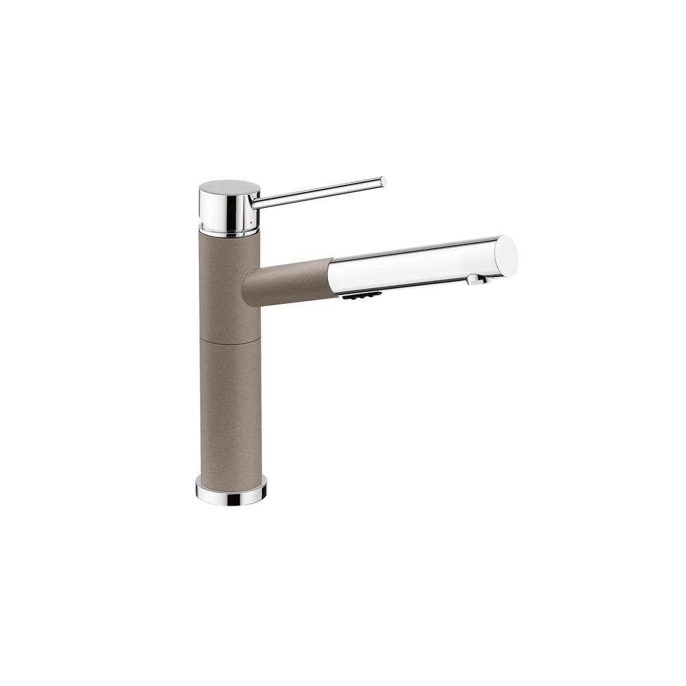 Alta, Pull Out, Dual Spray Faucet, Chrome/Truffle