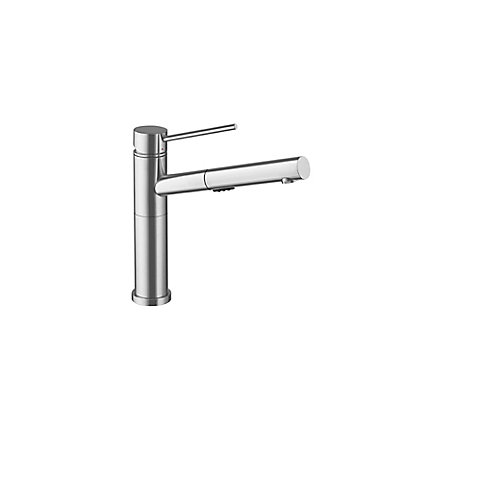 Blanco Alta, Pull Out, Dual Spray Faucet, Stainless Steel | The Home ...