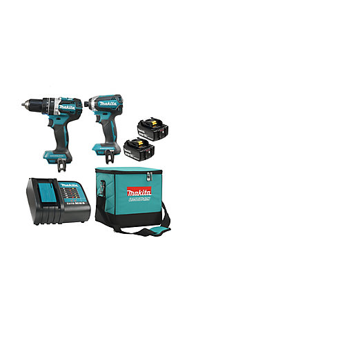 18V 5.0 Ah Li-Ion Brushless Cordless Hammer Drill and Impact Driver Combo Kit