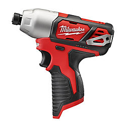 Milwaukee Tool M12 12V Lithium-Ion Cordless 1/4 inch Hex Impact (Tool-Only)