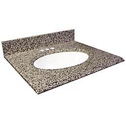 Foremost International Dessus de meuble-lavabo en granite brun Murcia 31 po