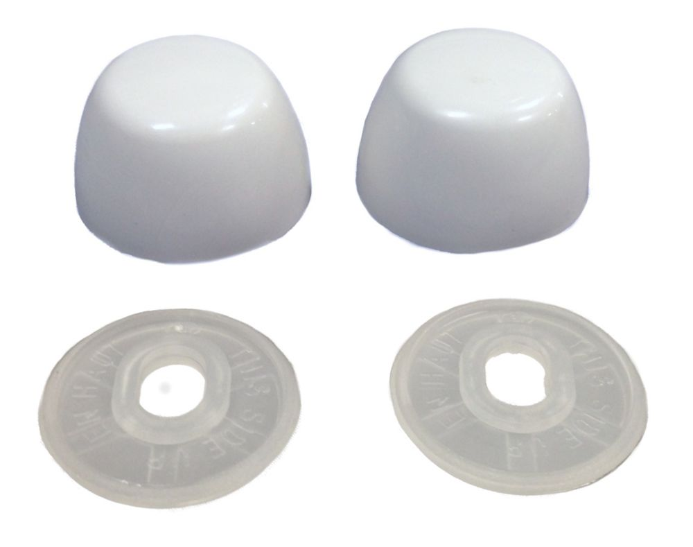 Jag Plumbing Products Contractor Pack : Toilet Bolt Cap Covers (10 Pairs Pack) White