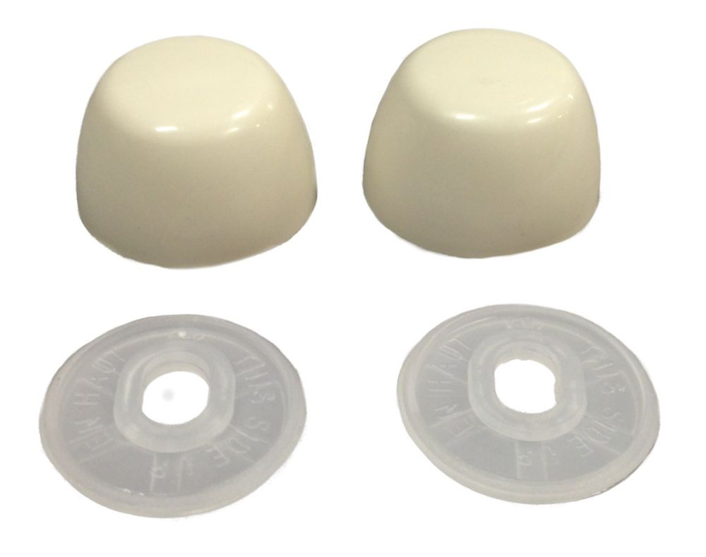 Contractor Pack : Toilet Bolt Cap Covers (10 Pairs Pack) Bone