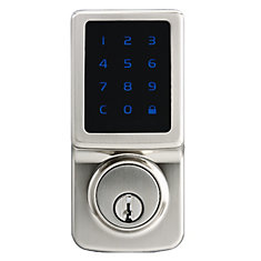 Satin Nickel Touchscreen Deadbolt