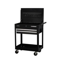 HUSKY 28-inch W x 16.3-inch D 2-Drawer Utility Cart with Lift-Top