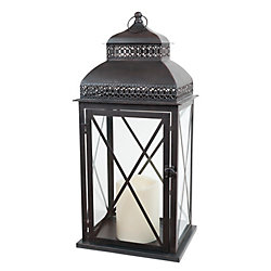 Fusion Indoor/Outdoor Lantern With Flameless Candle (Provence Collection)