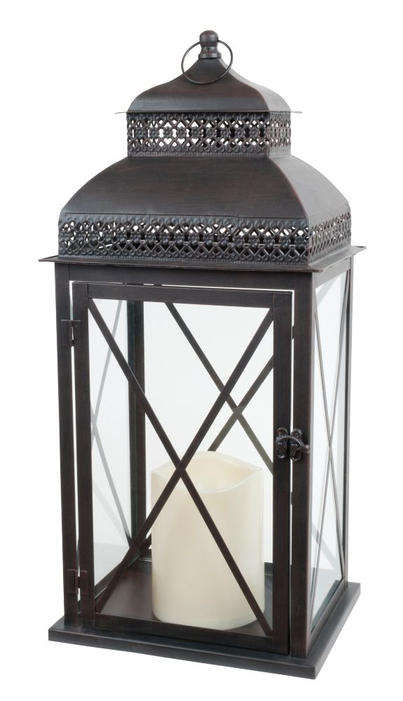 Indoor/Outdoor Lantern With Flameless Candle (Provence Collection)