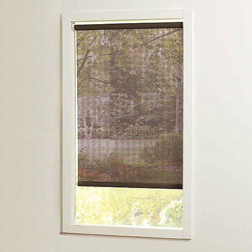 Home Decorators Collection Stores à rouleaux solaires brun tamisage de la lumière, taillée sur mesures de 37 po x 72 po