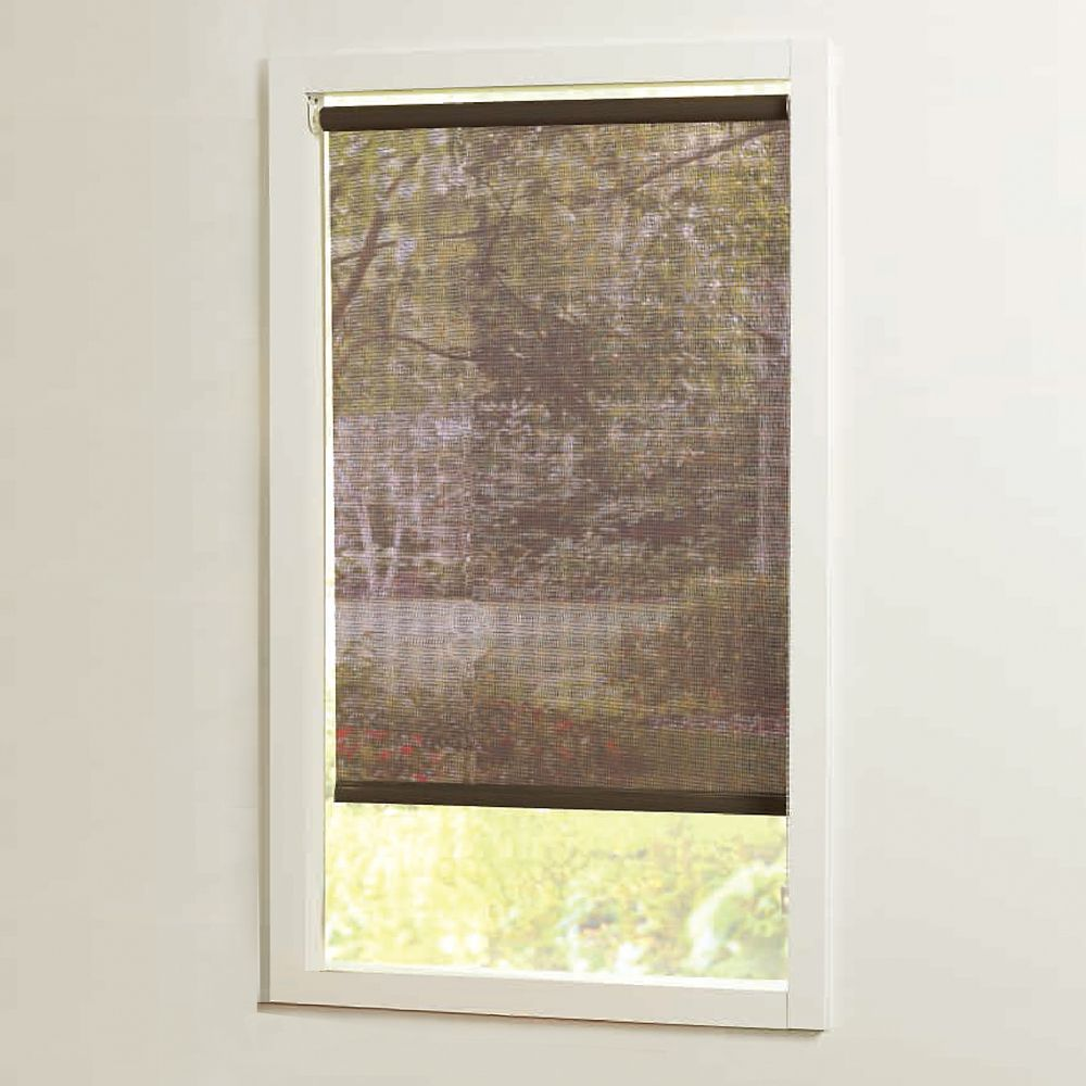 Home Decorators Collection 73 In X72in Brown Cut To Size Solar Shades The H