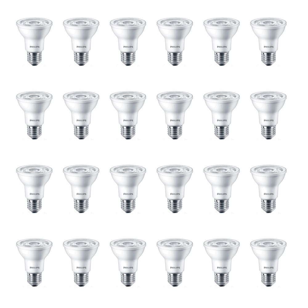 LED 5W = 50W PAR20 Soft White (2700K)  - Case of 24 Bulbs