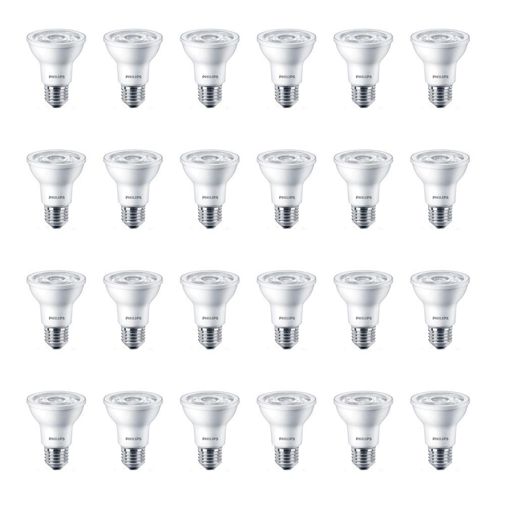 LED 50W Par20 Bright White (3000K) - Case of 24 Bulbs