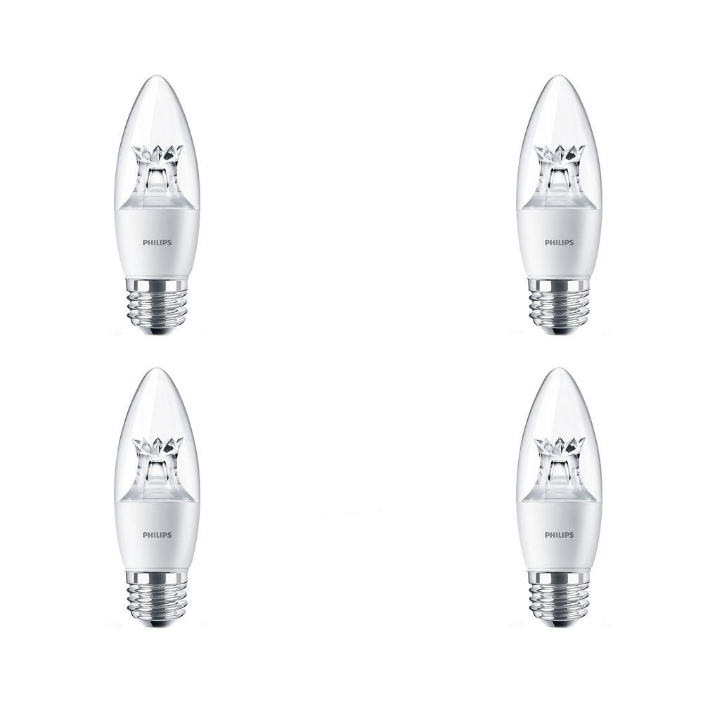 Lustre décoratif DEL 40 W   À culot candélabre - Cas de 4 Ampoules