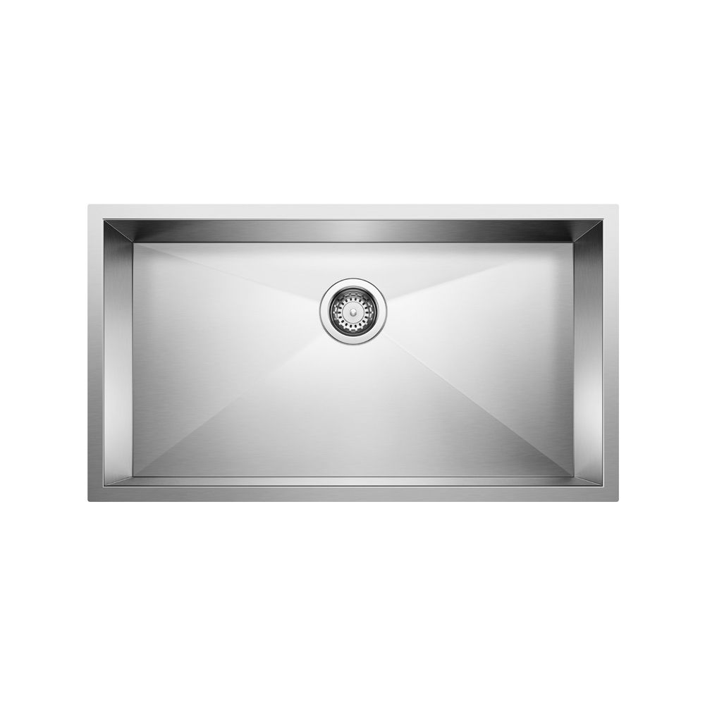 Merveilleux Blanco Diamond U1.75 Low Divide, Silgranit Sink, Undermount, Biscotti | The  Home Depot Canada