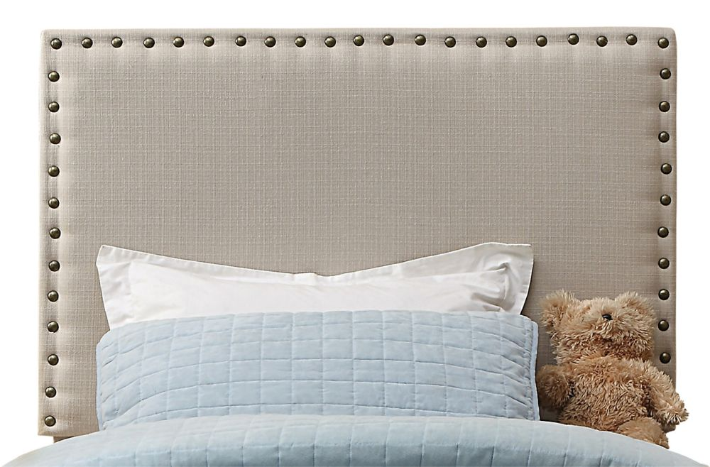 Leon 39 Inch Twin Headboard Only-Natural Linen