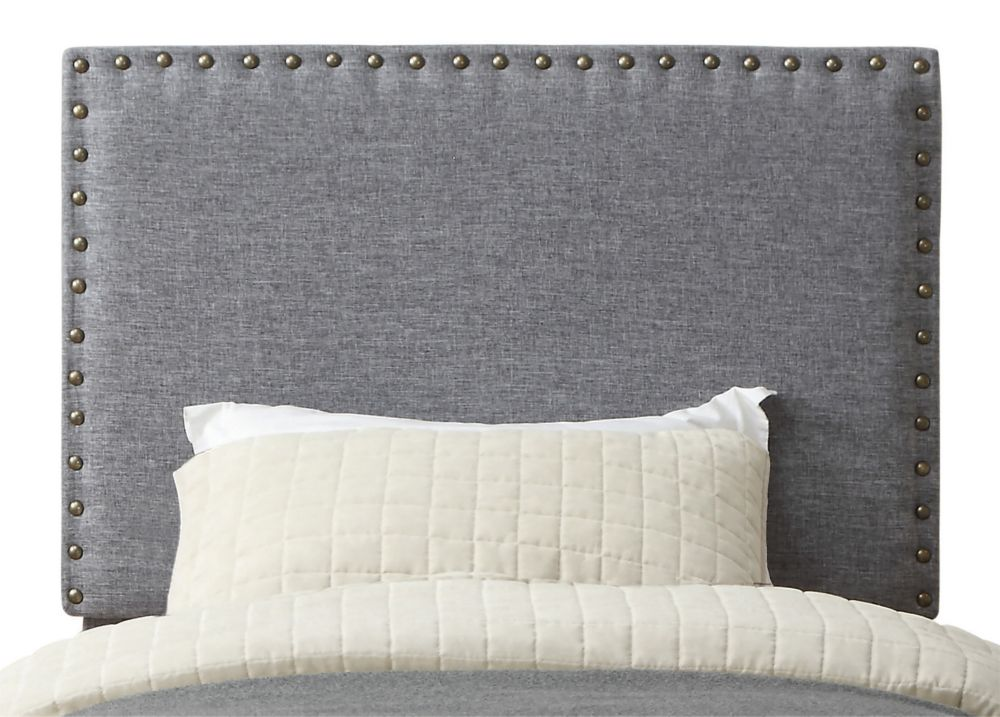 Leon 39 Inch Twin Headboard Only-Grey