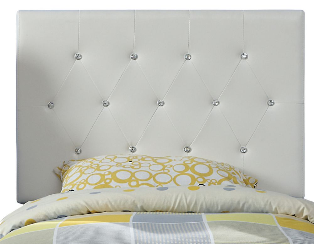 Glitz 39 Inch Twin Headboard Only-White